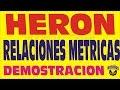 EL TEOREMA DE HERON  EN LOS CUADRILATEROS DEMOSTRACION