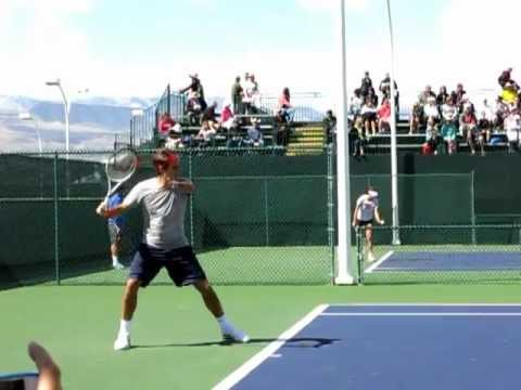 Roger Federer Practice 2013 Slow Motion Indian Wells BNP Paribas Open