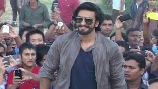 Ranveer Singh visits Lucknow for the promotion of 'Ram-leela'