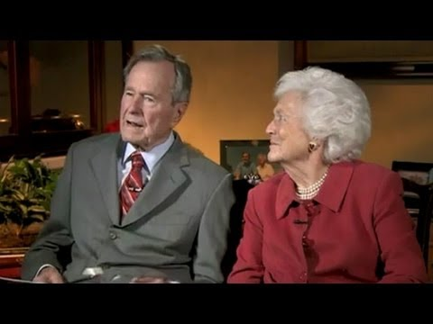 2011: Barbara Bush teases George H.W. Bush