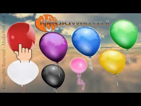 Learn Super Simple COLORS BALLOON  for Babies and Kids By Mediaweb.co.il