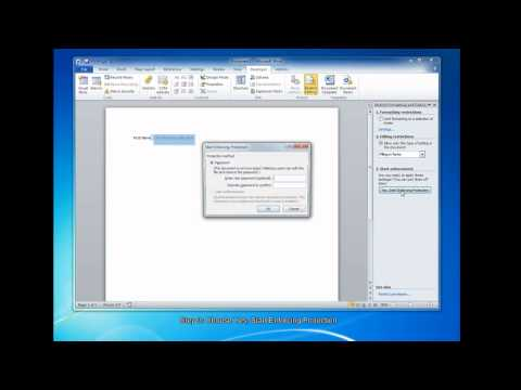 How to Create Fillable Forms in Microsoft Word 2010