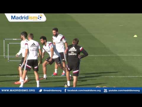 Training clips ahead of Real Madrid vs Barcelona, Clásico