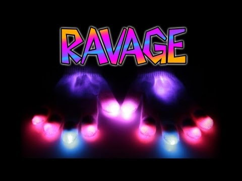 (Ayo?) Stunna - Ravage Glove Set Glove Light Show [EmazingLights.com]