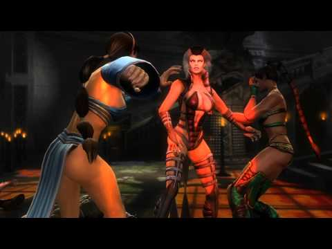 Mortal Kombat 9 Sindel kills almost everyone Cutscene number 117