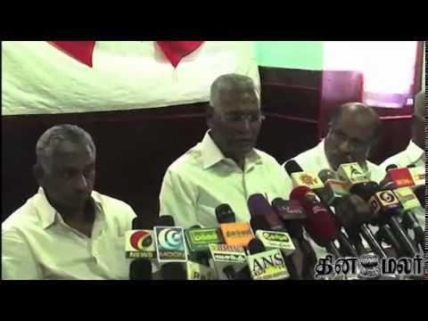 Distribution of Money for voters Happens only in Tamilnadu says Communist D. Raja