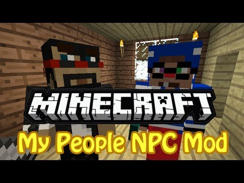 Minecraft Mod Spotlight - My People | SP NPC's (HD)