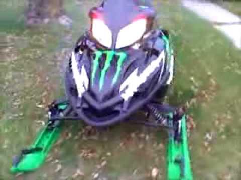 Arctic Cat Firecat F7 Monster Energy with Speedwerx Silencer