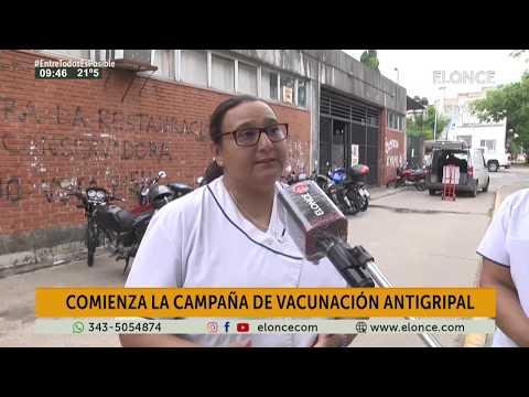 Camión sanitario realiza la vacunación antigripal frente al hospital San Martín