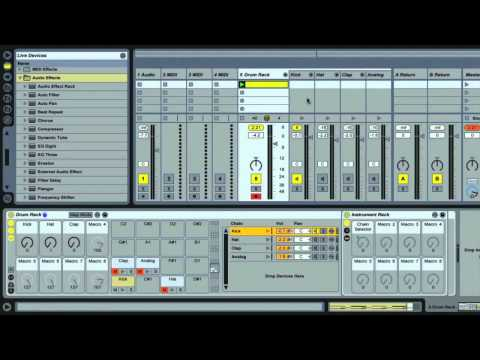 Ableton Live - Sculpt Your Kicks Sounds - Using Drum Racks Part 2/3