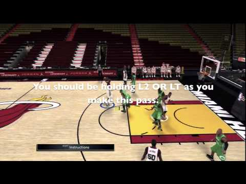 NBA 2K11 - How to do an Alley Oop in NBA 2K11 / PS3, XBOX 360