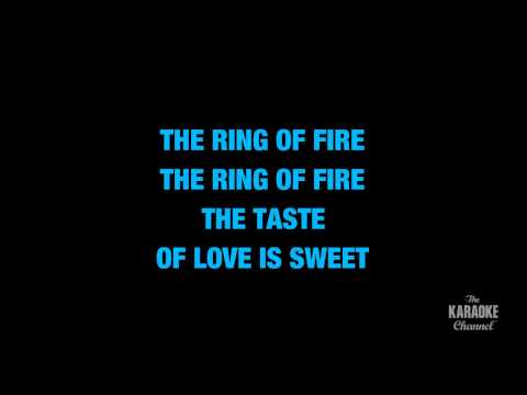 "Ring Of Fire in the Style of ""Johnny Cash"" with lyrics (no lead vocal)"