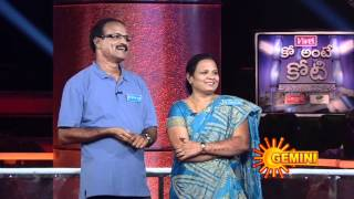 Jagapathi Babu's Ko Ante Koti – 1 Crore Game Show on 31-03-2012 (Mar-31) Gemini TV