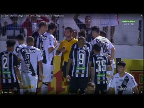 El gol lícito de Ponte Preta ante Figueirense que el árbitro no cobró.