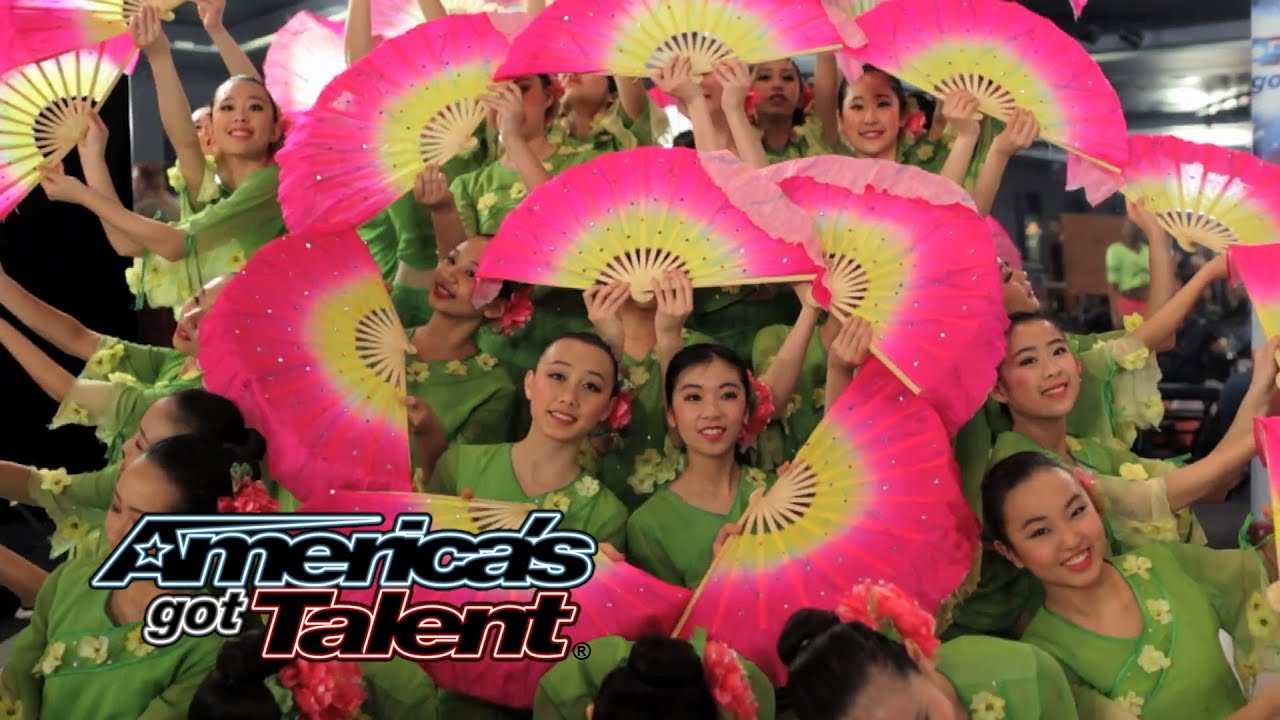 Jasmine Flower Group: Ballet Team Combines Styles for Pretty Fan Dance - America's Got Talent 2014