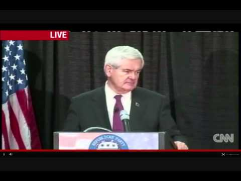 Newt Gingrich: Economic Recovery Begins on Election Night 2012 with Defeat of Barack Obama