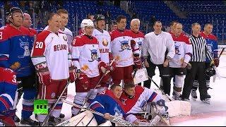 «Тигры» против «Медведей»: Путин и Лукашенко сыграли в хоккей (16.02.2019 10:04)