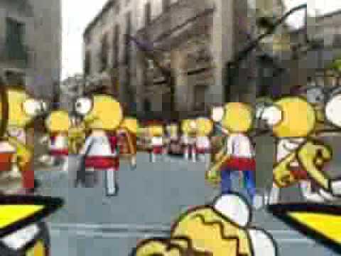 Los encierros de San Fermín en 3D.avi