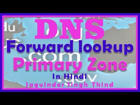 Creating Forward lookup Primary DNS Zone Server 2008 in Hindi