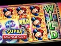 SUPER MONOPOLY - PART 3 of 3 | JACKPOT! BIG WIN! Slot Machine Bonus (WMS)