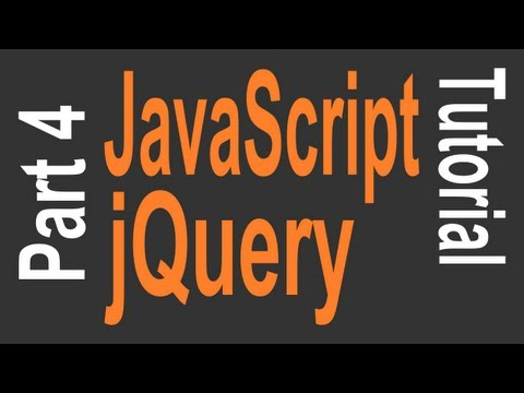 JavaScript & jQuery Tutorial for Beginners - 4 of 9 - jQuery Effects