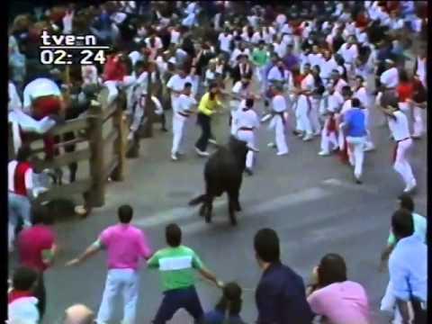 Encierro de San Fermín   11 de julio de 1989
