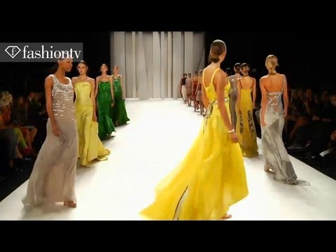 Carolina Herrera Runway Show, New York Fashion Week Spring 2012 NYFW ft Karlie Kloss | FashionTV FTV