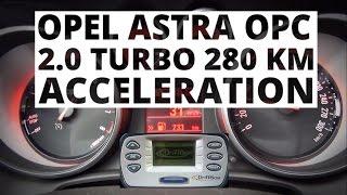 Opel Astra OPC 2.0 Turbo 280 KM - przyspieszenie 0-100 km/h