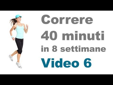Allenamento Corsa - Tutorial per Correre 40 Minuti  (Video 6)