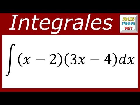Integral directa de una multiplicación