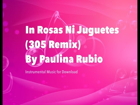 Ni Rosas Ni Juguetes (Paulina Rubio Mr.305 Remix Instrumental + DOWNLOAD