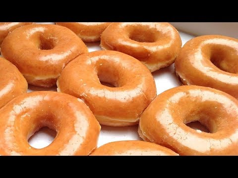 Homemade Glazed Doughnuts (Krispy Kreme glazed donuts) Best Donuts Recipe
