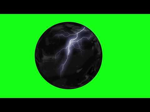 energy in a rotating glass sphere - green screen effect
