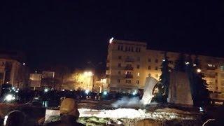 Как в Житомире снесли памятник Ленину