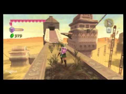Legend of Zelda Skyward Sword Walkthrough - PT. 58 - Lanayru Sand Sea - Shipyard