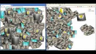 html5 css3 3d 1000 cubes fps mit chrome vs firefox