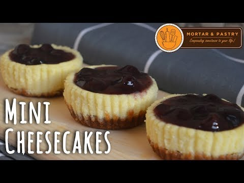 MINI CHEESECAKES   How To Make Mini Blueberry Cheesecakes   Ep. 30   Mortar and Pastry