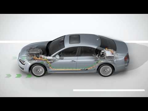 Video über die Funktionsweise des Audi A8 hybrid