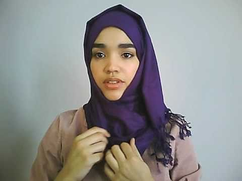 Hijab Tutorial #1: Simple Scarf Style using a Pashmina for Every Day - Suitable for Beginners