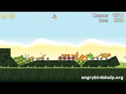 Angry Birds Level 2-14 - 3 Star Walkthrough