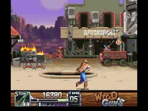 Wild Guns (SNES) gameplay
