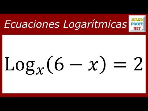 Solución de una ecuación logarítmica