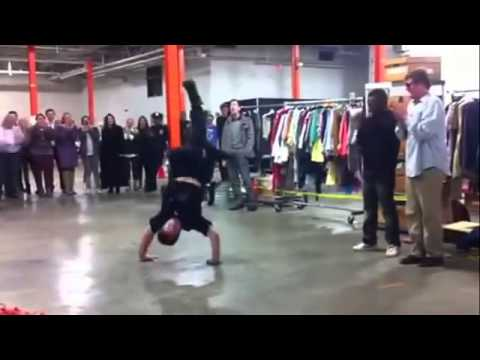 NYPD Cop accepts dance battle against street artist. Cop KILLS it!