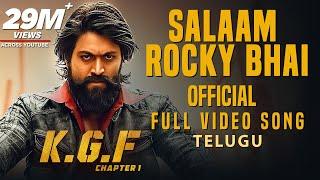 Salaam Rocky Bhai Full Video Song | KGF
