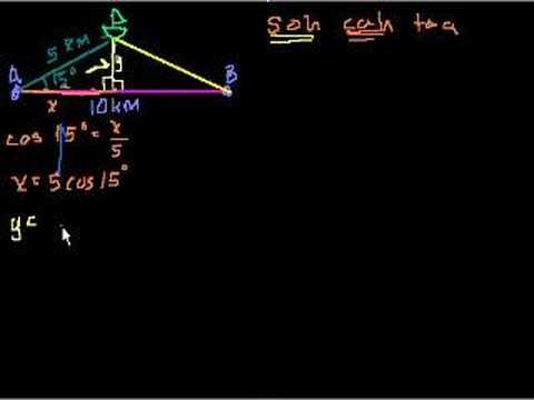 Trigonometry word problems (part 1)