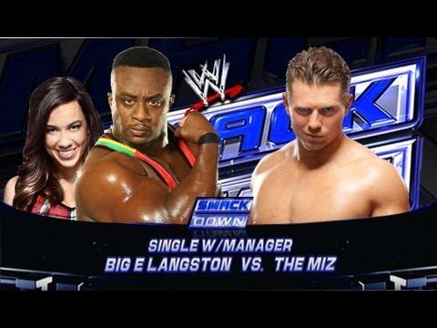 WWE Smackdown Big E Langston Vs The Miz HD