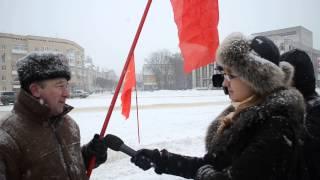 Митинг коммунистов у Ленина в Житомире