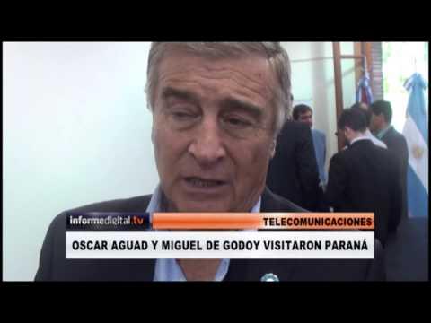 <b>Paraná.</b> Aguad y Godoy anunciaron obras para Entre Ríos.