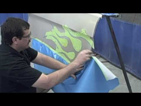 Prepare Paint For Artwork - Masking Flame From Donnie-Smith.com