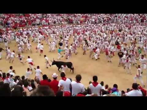 1er Encierro de San Fermin 2012 Pamplona (Vaquillas)
